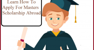 how to apply for masters scholarship abroad