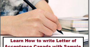 Letter of Acceptance Canada Sample